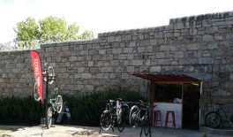 Bike Hire shop - a great way to escape through the jail wall.